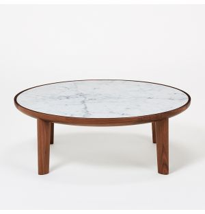Hole Coffee Table Walnut & Marble