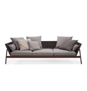 PIPER 003 Sofa Low Back Rust & Grey