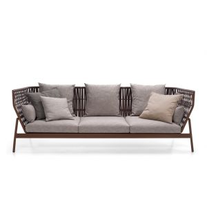 PIPER 103 Sofa High Back Rust & Brown