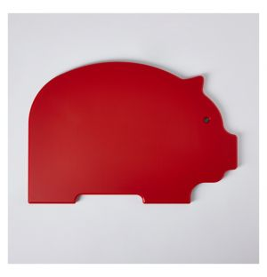 Pig Chopping Board Red