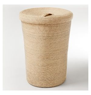 Tall Storage Basket & Lid Natural