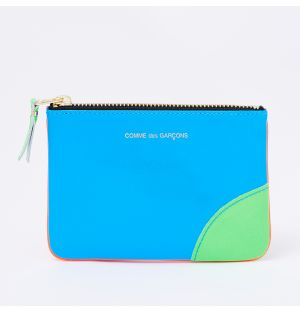 Super Fluo Pouch in Green and Blue