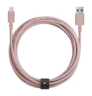 BELT Lightning Cable Rose 3m
