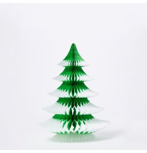 Paper Tip Tree Christmas Decoration in Green 25cm
