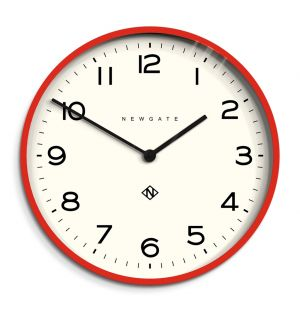 Number One Echo Wall Clock Fire Engine Red