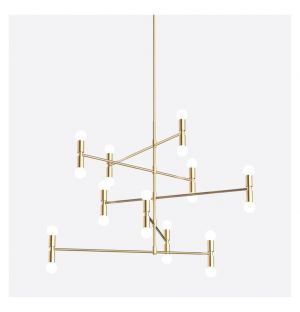 Dot 14 A Pendant Light Brass