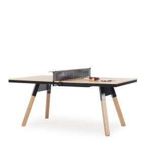 You & Me Indoor Ping-Pong Table in Black & Oak