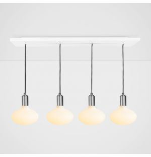 Oval Pendant Light Set Graphite