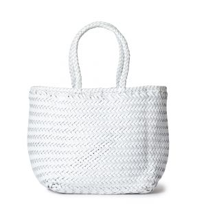 Small Grace Basket Bag in White