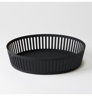 Tower Fruit Basket Black Wide