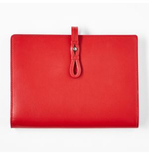 Leather Travel Wallet Red