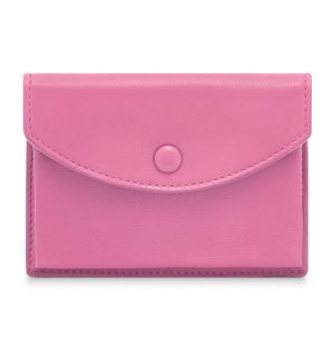 Leather Zipped Coin Purse Pink