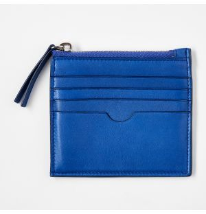 Leather Coin Pouch Blue