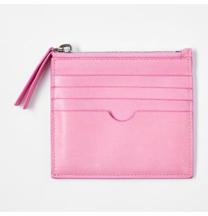 Leather Coin Pouch Pink