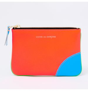 Super Fluo Coin Purse in Orange & Blue