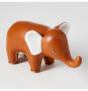 Elephant Paperweight in Tan
