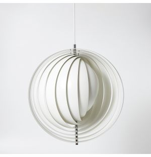 Moon Pendant Light White 44.5cm