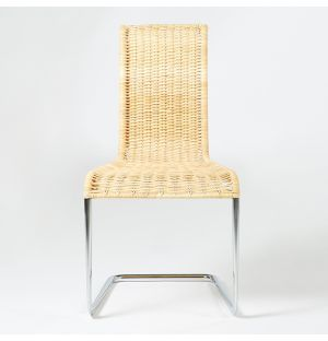 B20 Chair Chromed Steel & Natural Cane