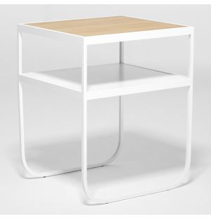 Nati Tati Bedside Table White & Oak