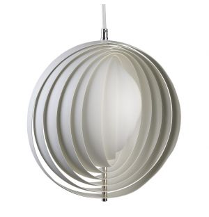 Moon Pendant Light White 30cm