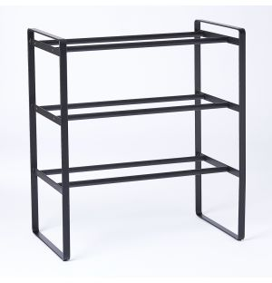 Frame Adjustable Shoe Rack Black