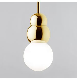 Ball Pendant Light with Rod Brass Large