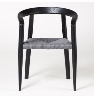 MHC.3 Miss Chair Black Woven Seat