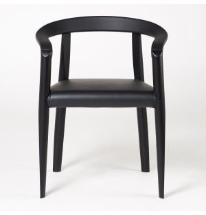 MHC.3 Miss Chair Black Leather Seat
