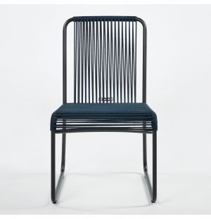 HARP 749 Side Chair Smoke & Blue