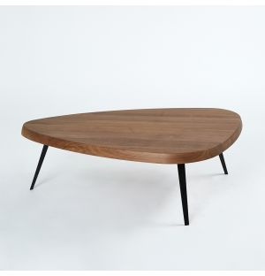 527 Mexique Coffee Table in Walnut & Black