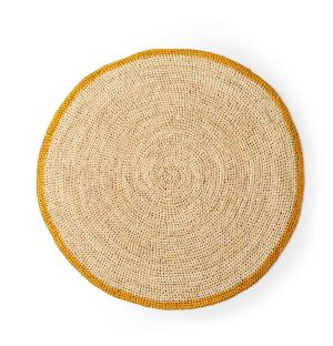Round Placemat in Mustard & Natural