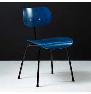 SE68 Dining Chair Stained Blue & Black