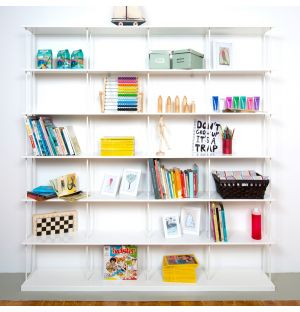 Krossing Maxi Shelving Unit Matte White 200cm x 200cm