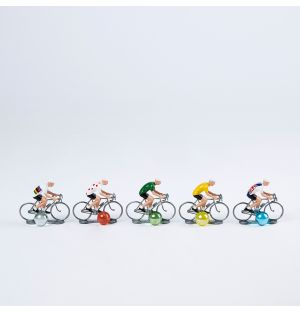 Miniature Cyclists Set of 5