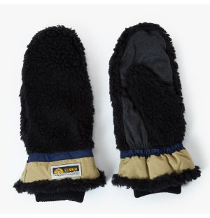 Shearling Mittens in Black