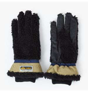 Shearling Gloves in Black