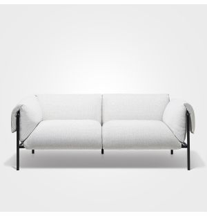 Fold 2-Seater Sofa With Arms Textured Stone