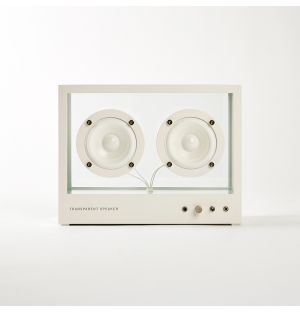 Transparent Speaker White Small