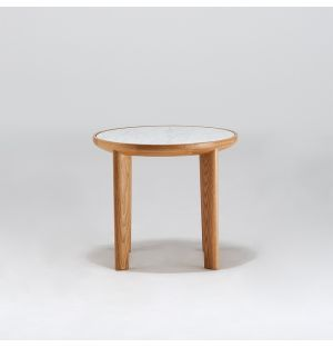 Hole Side Table Oak
