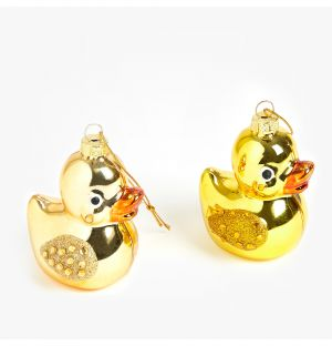 Glam Rubber Duck Christmas Tree Decoration