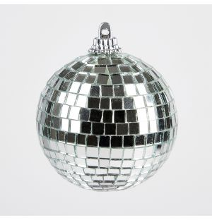 Mirror Ball Christmas Tree Decoration in Silver