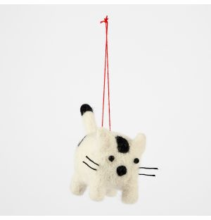 Cat Christmas Tree Decoration Black & White