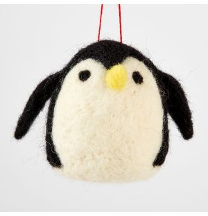 Penguin Christmas Tree Decoration Black & White
