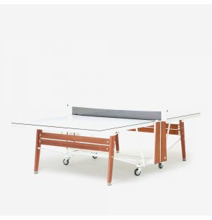 Ex-Display RS#PingPong Folding Ping-Pong Table in White