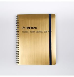 Rollbahn A5 Spiral Diary Gold