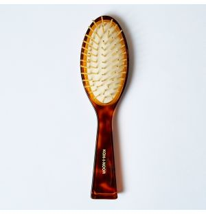 Tort Hair Brush With Gold Pins