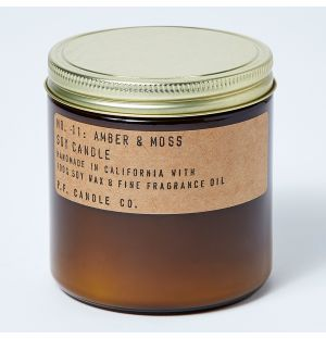 Amber & Moss Candle