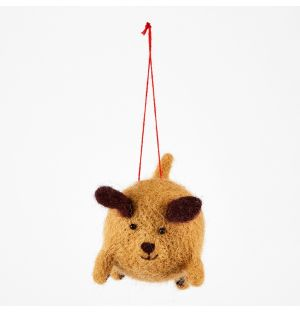Dog Christmas Tree Decoration Light Brown