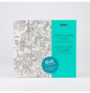Giant Atlas Colouring Poster
