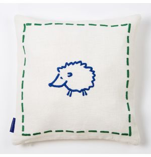Embroidered Hedgehog Cushion Cover 30cm x 30cm
